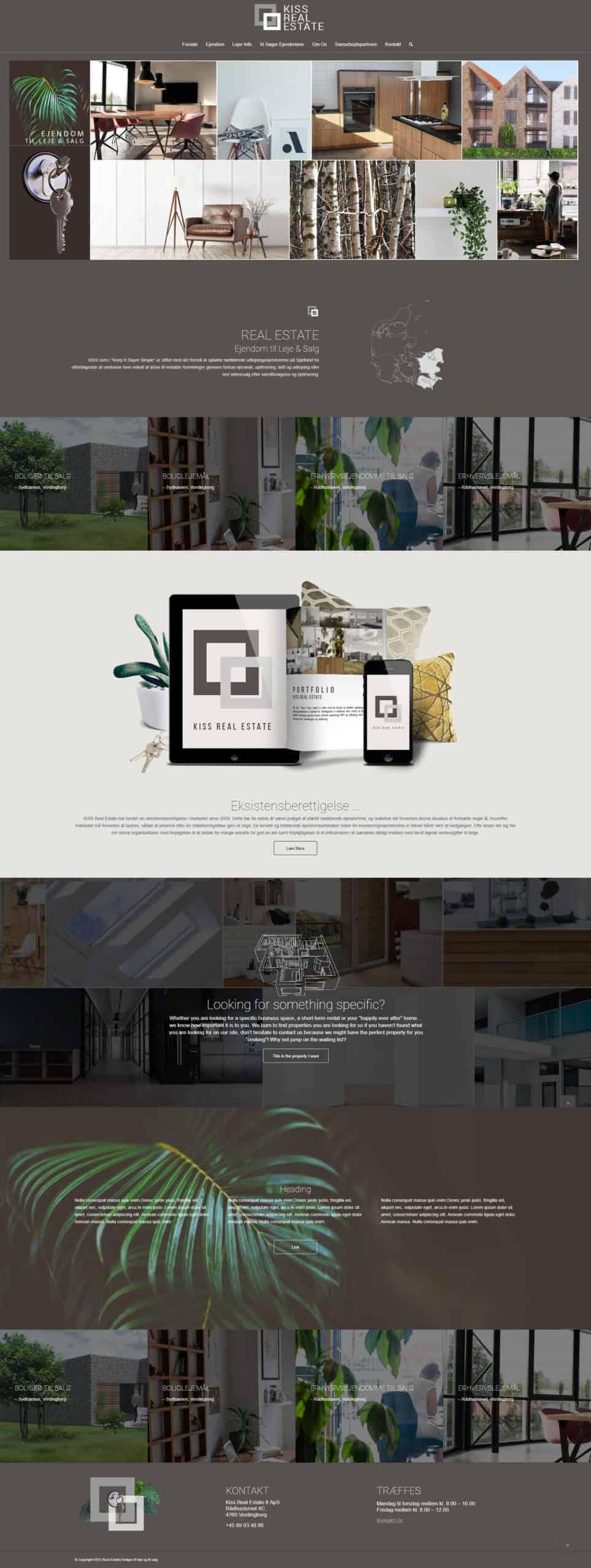 Forside screenshot af ny ejendomsmæglershjemmeside