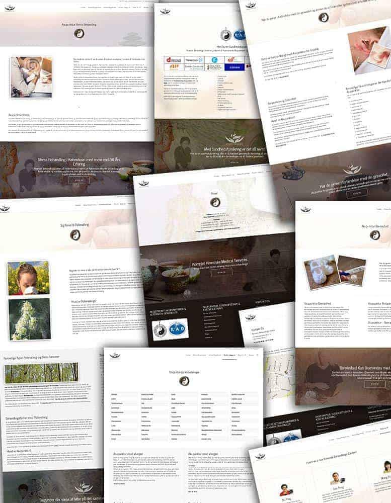 Behandler hjemmeside design - sider screenshots