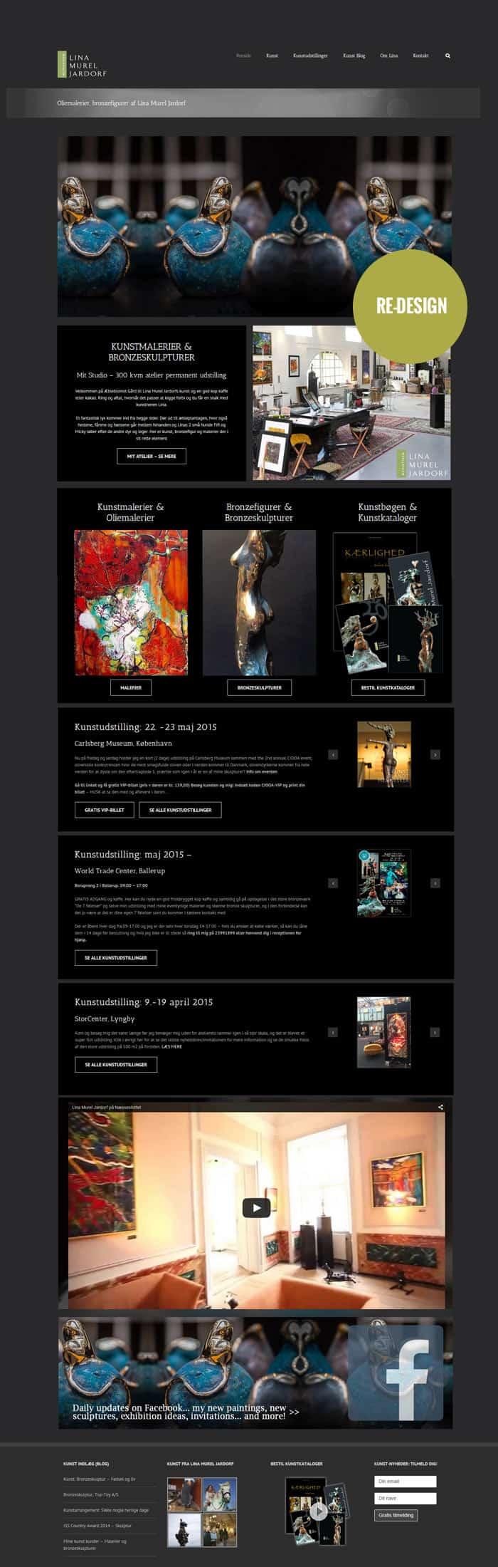 Avada Wordpress hjemmeside, Linaart.dk efter bizdoktor re-design