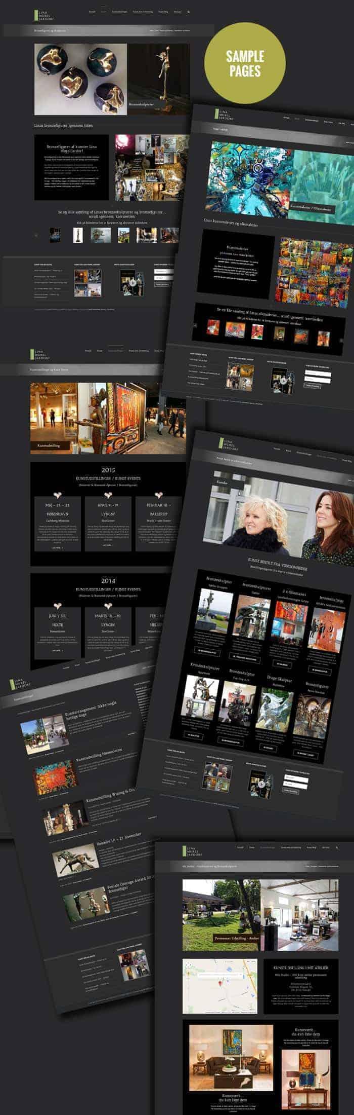 Linaart.dk Avada wordpress hjemmeside - seo optimering og re-design på Bizdoktor