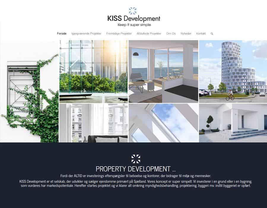 Nyt ejendomsudvikling wordpress hjemmeside forside screenshot