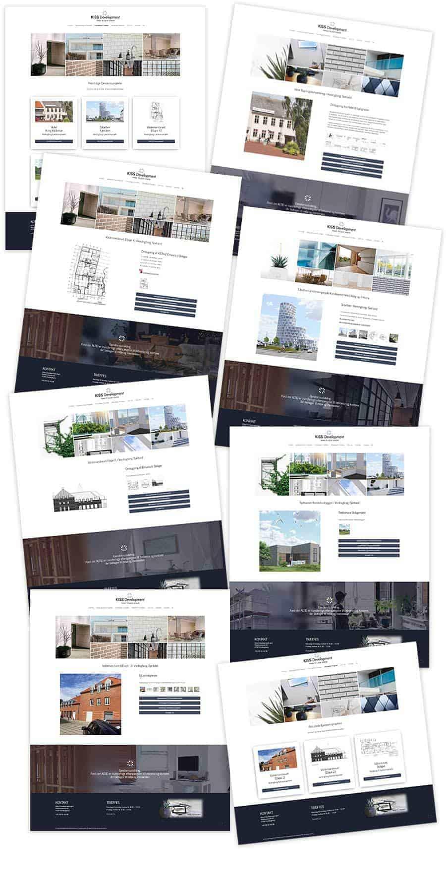 Nogle screenshots fra den nye hjemmeside.