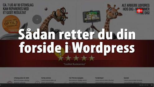 Ret din forside i Wordpress med Enfold som tema