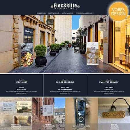 Flexskilte reklame skilte til erhverv og privat