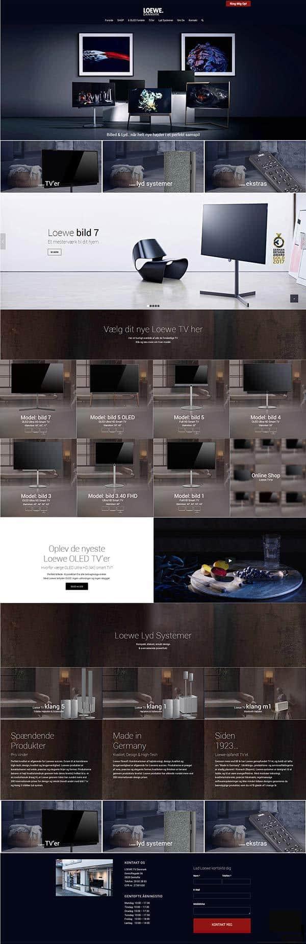 Forside snapshot af nyt hjemmeside