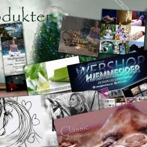 Grafisk design til reklamer, sliders, sociale media...