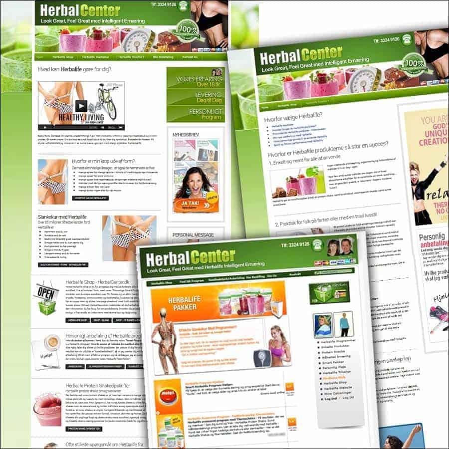 HerbalCenter.dk - Før nyt design (html og dandomain shop)