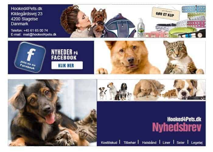 Hooked4Pets.dk - Promotional Banners