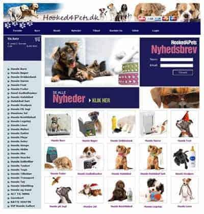 Hooked4pets Webshop af Bizdoktor