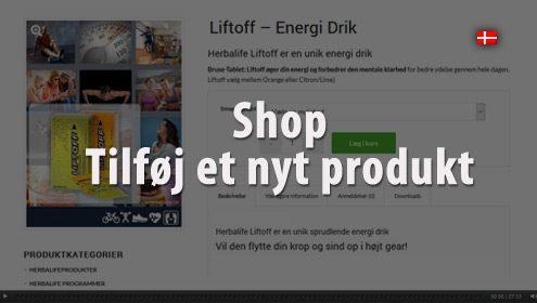 Video - Tilføj et nyt produkt i shoppenn
