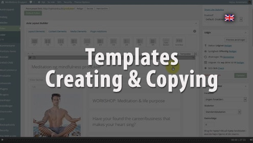 Video - How to use templates in Enfold