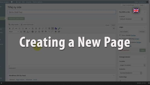 Video - How to create a new page