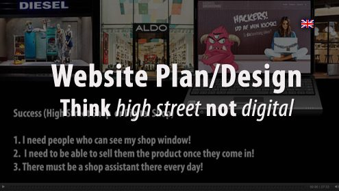 Designing Website - Think high street, not digital