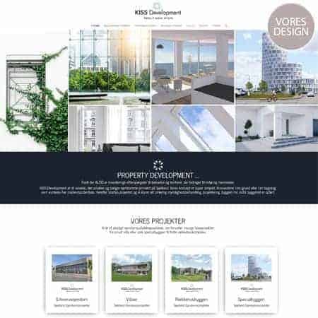 Ny ejendom og property development wordpress hjemmeside