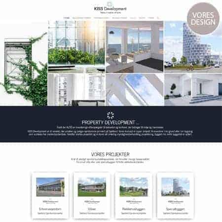 Ny ejendom og property development wordpress hjemmeside