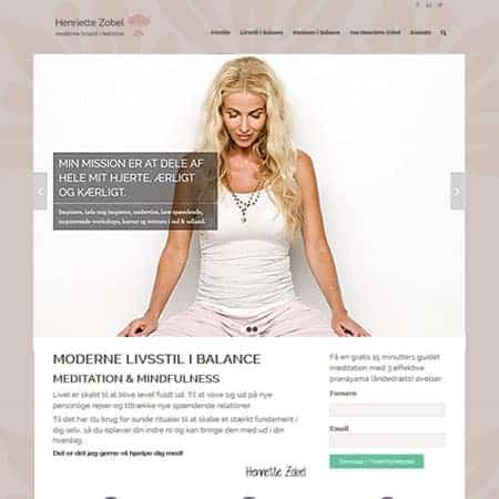 Henriette Zobel - Wordpress hjemmeside