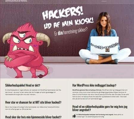 Wordpress hjemmeside og webshop - wpsikkherhedspakke.dk