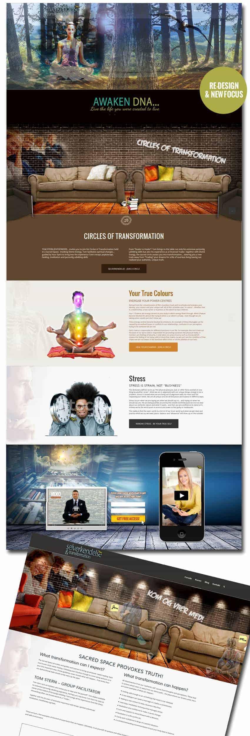 Nyt Enfold wordpress hjemmeside og design mockup
