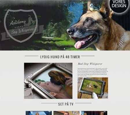 Dog Whisperers nyt Enfold responsive wordpress hjemmeside og woocommerce shop
