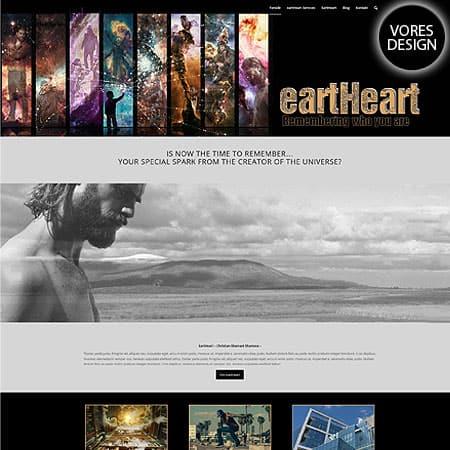 Eartheart.dk - Nyt wordpress hjemmeside design og opbygning