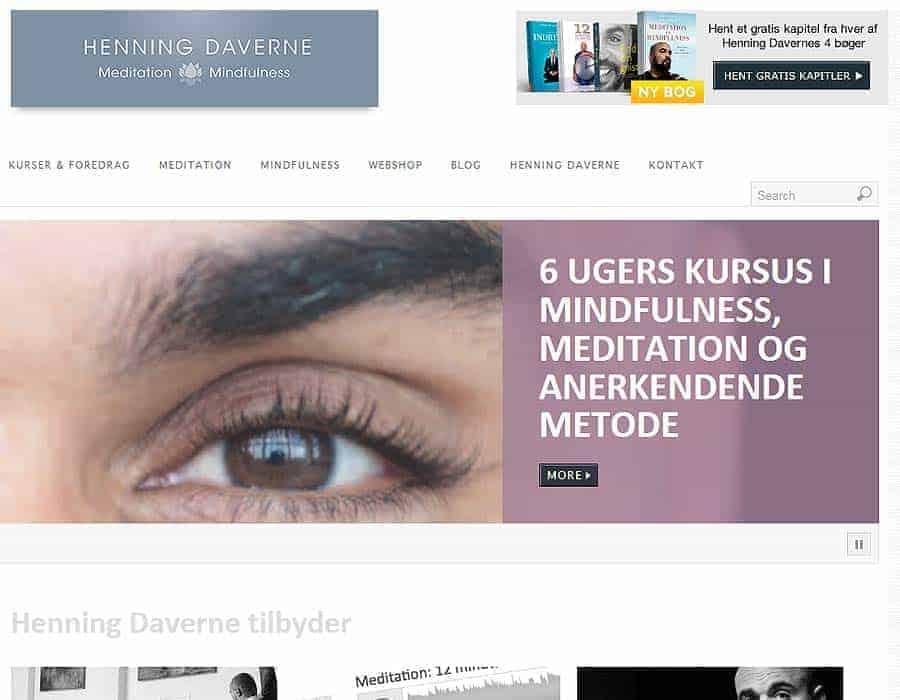 Wordpress Hjemmeside og Webshop (før) - HenningDaverne.dk