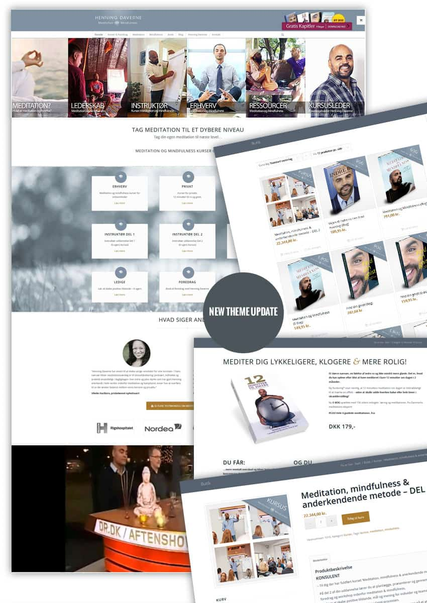 Ny wordpress tema update og webshop - Henning Daverne