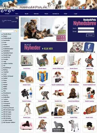 Referencer - Hooked4Pets Webshop setup og design