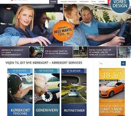 Ny Enfold responsive wordpress hjemmeside og design til Khyls Køreskole fra Bizdoktor.dk