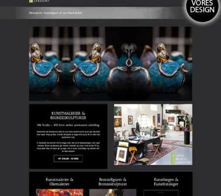BizDoktor wordpress hjemmeside re-design til Linaart.dk