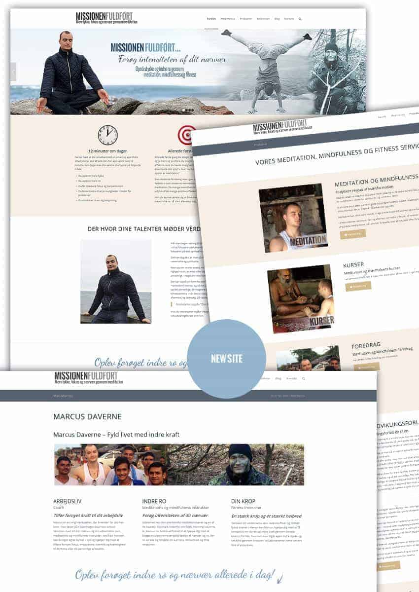 Ny startup wordpress hjemmeside - Marcus Daverne