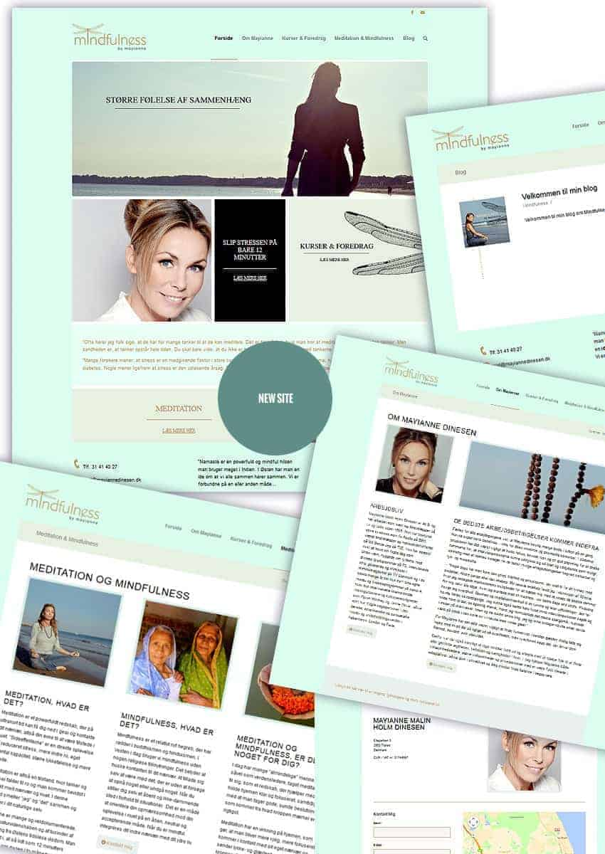BizDoktor referencer - Mayianne Dinesen ny wordpress hjemmeside opbygning