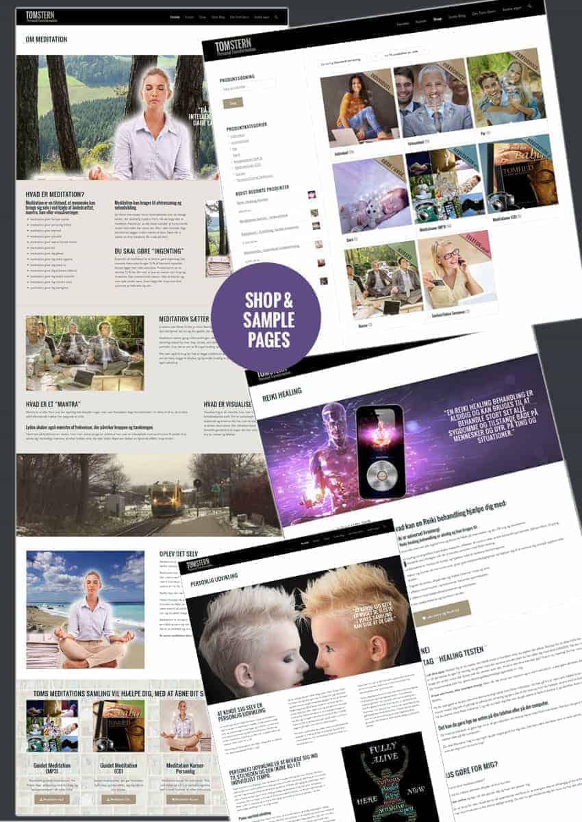 Tom Stern - ny design og hjemmeside opbygning fra BizDoktor.dk