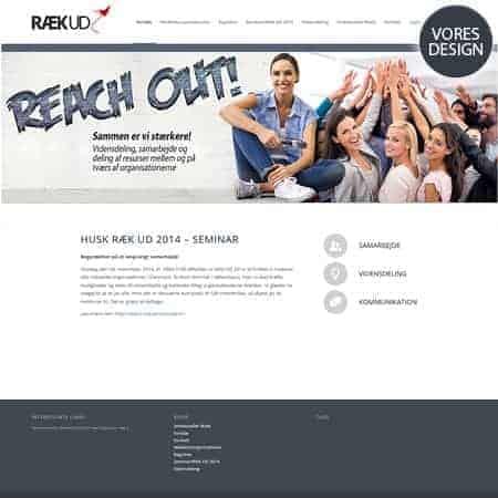 Reach Out - Ræk ud wordpress hjemmeside