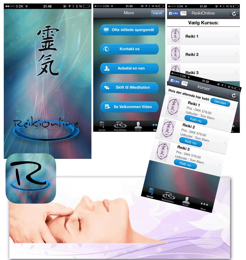 Ny ReikiOnline app design/skin change