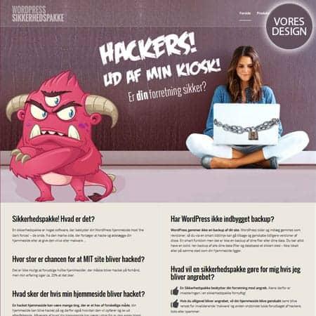 WPSikkerhedspakke.dk - Nyt wordpress hjemmeside design og opbygning
