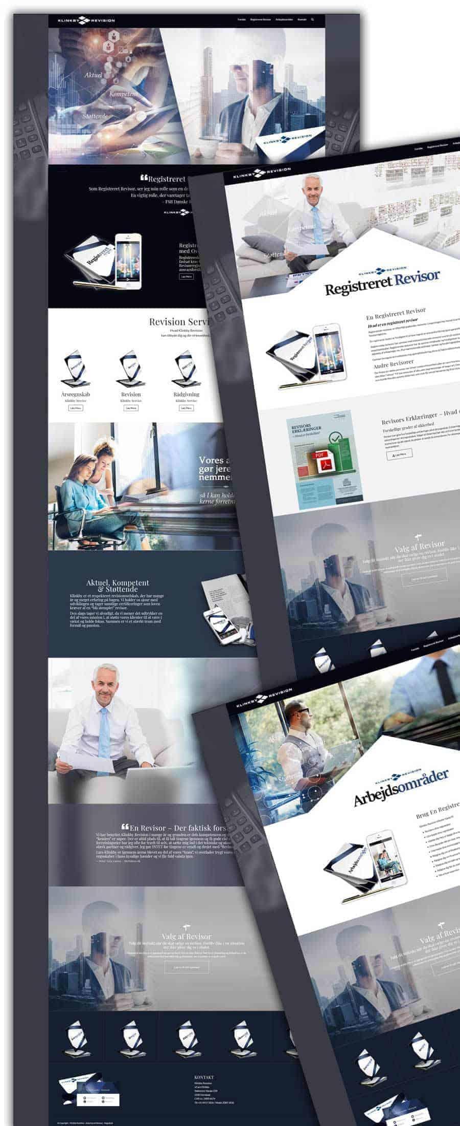 Revision nyt hjemmeside efter screenshots
