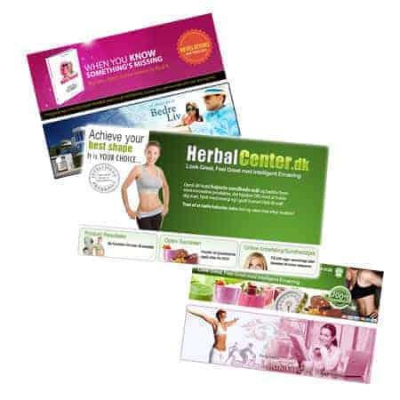 Webshop - Grafik header banners til din hjemmeside, nyhedsbrev, email..