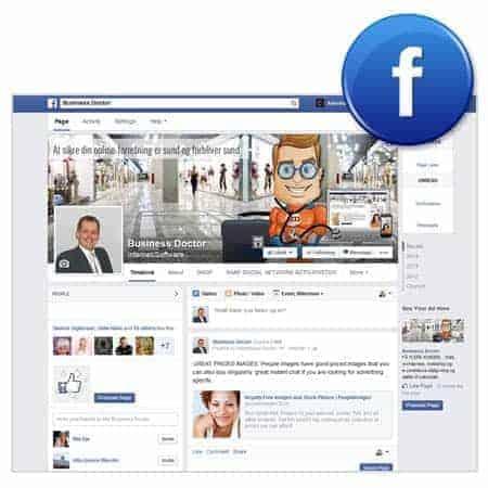 Webshop - Grafik facebook timeline baggrund