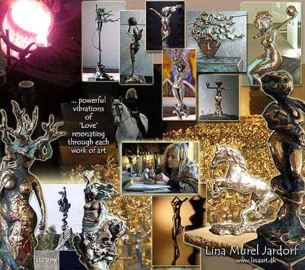 Bronzefigurer af Lina Murel Jardorf