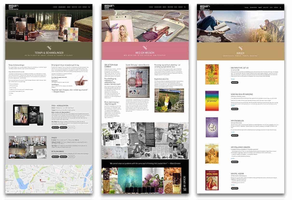 Snapshot fra Krystaller og Olier hjemmeside