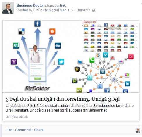 BizDoktor Wordpress service - sociale medier autoposter