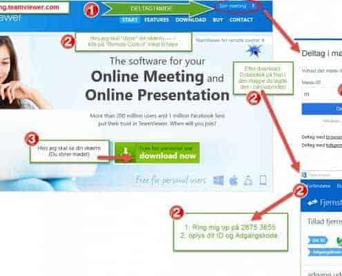 Online møder med BizDoktor - Teamviewer