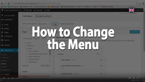 Video - How to change a Wordpress menu