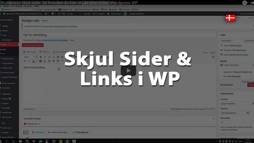 Video om hvordan dig skul sider og links i Wordpress