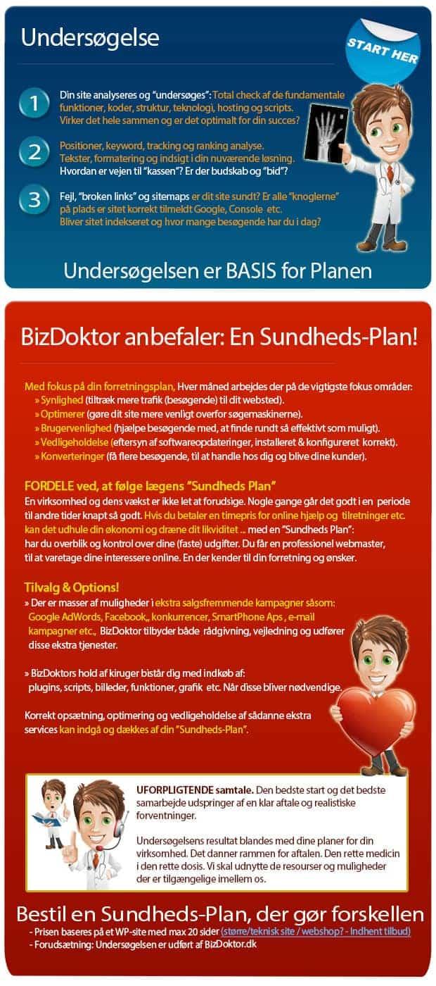 Sundhedsplan for Websites Webmaster service