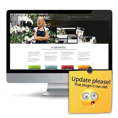 Wordpress vedligeholdelse hjemmeside