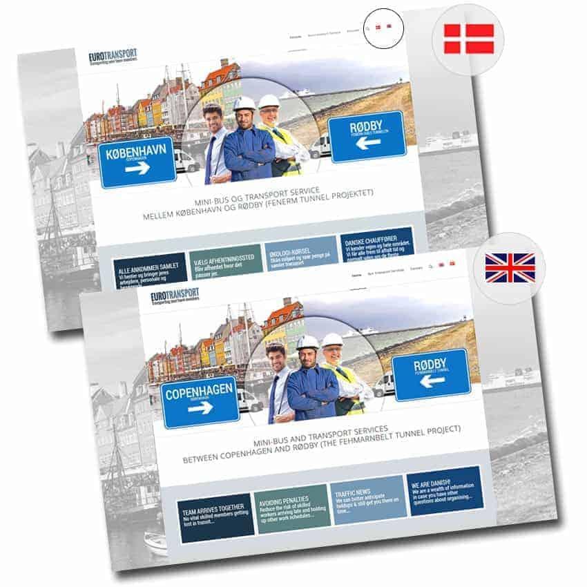 Wordpress hjemmeside, multi-language function - dansk, engelsk