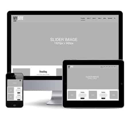 Wordpress Hjemmeside - 5 Sider af layouts