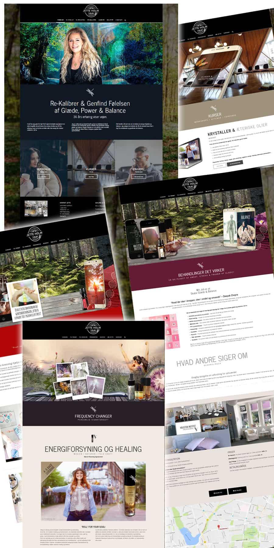 Wordpress hjemmeside sider efter screenshots fra Jetteholm.dk