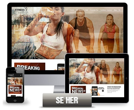 Wordpress hjemmeside - Fuld design